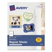 Avery Printable Inkjet Magnet Sheets, 8 1/2 x 11, White, 5/Pack