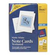 Avery Textured Note Cards, Inkjet, 4 1/4 x 5 1/2, Uncoated White, 50/Bx w/Envelopes