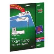 Avery Extra Large 1/3 Cut TrueBlock File Folder Labels, 15/16 x 3 7/16, White, 450/PK