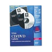 Avery Laser CD Labels, Matte White, 100/Pack