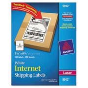 Avery Shipping Labels w/Ultrahold Ad & TrueBlock, Laser, 5 1/2 x 8 1/2, White, 500/Box