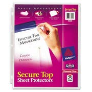 Avery Secure Top Sheet Protectors, Super Heavy Gauge, Letter, Diamond Clear, 25/Pack