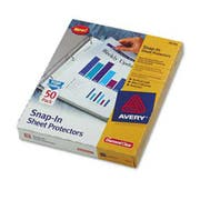 Avery Snap-In Heavyweight Sheet Protector, Letter, Diamond Clear, 50/Box