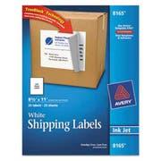 Avery Shipping Labels w/Ultrahold Ad & TrueBlock, Inkjet, 8 1/2 x 11, White, 25/Pack