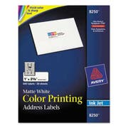 Avery Color Printing Mailing Labels, 1 x 2 5/8, Matte White, 600/Pack