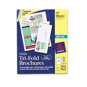 Avery Tri-Fold Brochures for Inkjet Printers, 8 1/2 x 11, Matte White, 100 Sheets/Box