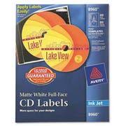 Avery Inkjet Full-Face CD Labels, Matte White, 40/Pack