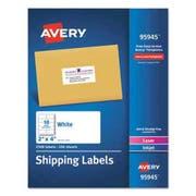 Avery White Shipping Labels, Laser/Inkjet, 2 x 4, White, 2500/Box
