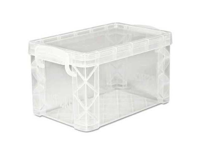 Advantus Super Stacker Storage Boxes, Hold 400 3 x 5 Cards, Plastic, Clear