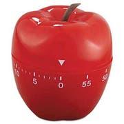 Baumgartens Shaped Timer, 4 inch dia., Red Apple