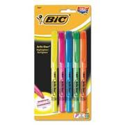 BIC Brite Liner Highlighter, Chisel Tip, Fluorescent, 5 per Set