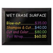 Black MasterVision DKT30505072 Wet Erase Board Aluminum Frame 27x34