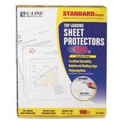 C-Line Standard Weight Polypropylene Sheet Protector, Clear, 2 inch, 11 x 8 1/2, 100/BX