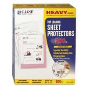 C-Line Heavyweight Polypropylene Sheet Protector, Clear, 2 inch, 11 x 8 1/2, 200/BX