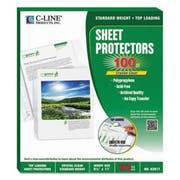 C-Line Sheet Protectors, Clear, Polypropylene, 2 inch, 11 x 8 1/2, 100/BX