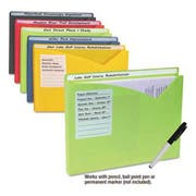 C-Line Write-On Expanding Poly File Folders, 1 inch Exp., Letter, Assorted Colors, 10/BX
