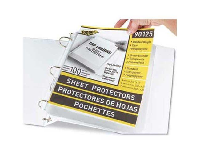 C-Line Top-Load Polypropylene Sheet Protectors, Standard, Letter, Clear, 2 inch, 100/Box
