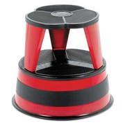 Cramer Kik-Step Steel Step Stool, 16 dia x 14 1/4h, to 300 lb, Red