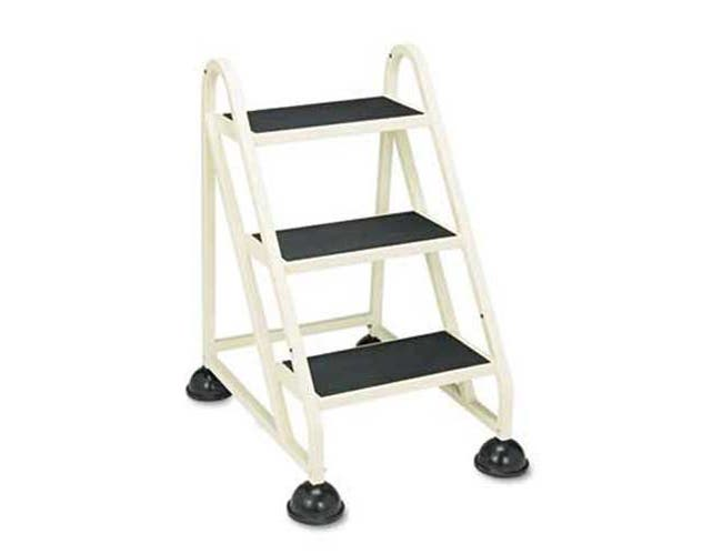 Cramer Stop-Step 3-Step Aluminum Ladder, 21 1/2w x 27 1/4d x 32 3/4, Beige