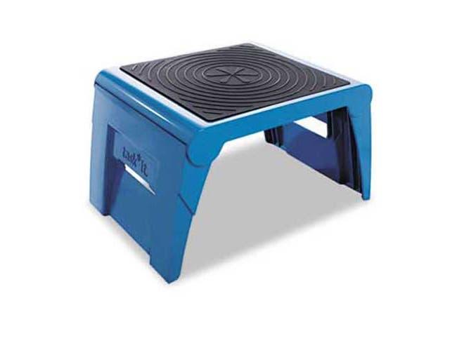 Cramer Folding Step Stool, 250lb Cap, 14w x 11 1/4d x 9 3/4h, Blue