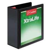 Cardinal XtraLife ClearVue Non-Stick Locking Slant-D Binder, 4 inch Cap, 11 x 8 1/2, Black