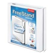 Cardinal FreeStand Easy Open Locking Slant-D Ring Binder, 1 inch Cap, 11 x 8 1/2, White