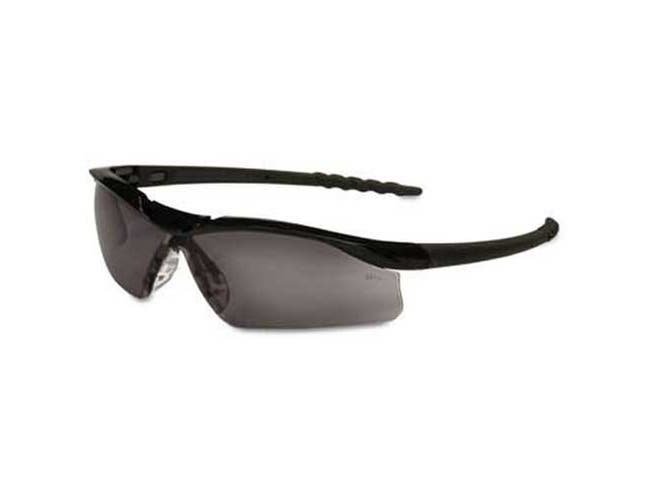 Crews Dallas Wraparound Safety Glasses, Black Frame, Gray Lens