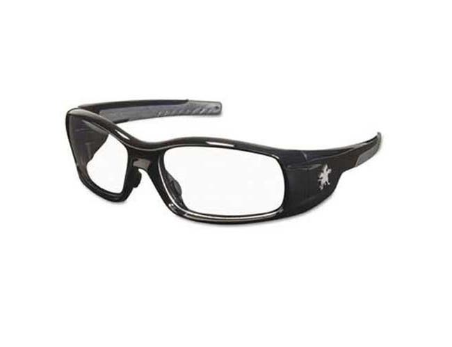 Crews Swagger Safety Glasses, Black Frame, Clear Lens