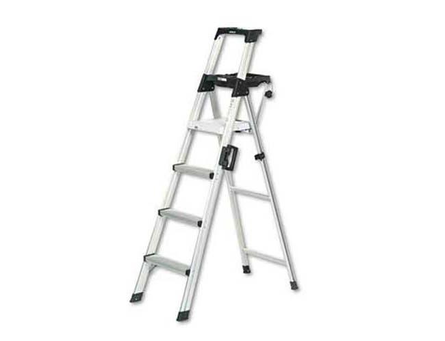Cosco Six-Foot Lightweight Aluminum Folding Step Ladder w/Leg Lock & Handle, 300lb