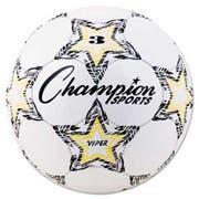Champion Sports VIPER Soccer Ball, Size 3, White