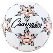 Champion Sports VIPER Soccer Ball, Size 4, White