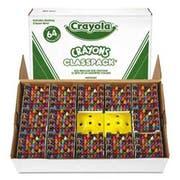 Crayola Classpack Regular Crayons, Assorted, 13 Caddies, 832/Box