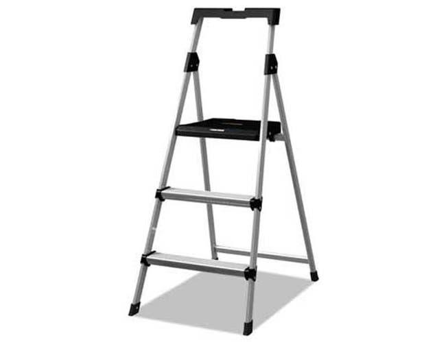 Louisville Aluminum Step Stool Ladder, 250lb cap, 20w x 31 spread x 47h