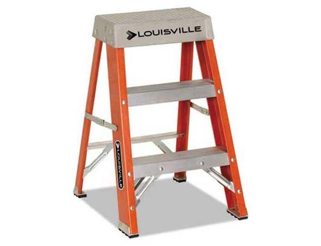 Louisville Fiberglass Heavy Duty Step Ladder, 28.28 inch, Orange, 2 Steps