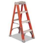 Louisville Fiberglass Heavy Duty Step Ladder, 50 inch, Orange, 3 Steps