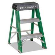 Louisville #624 Folding Fiberglass Locking 2-Step Stool, 17w x 22 Spread x 24h
