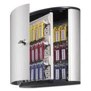 Durable Locking Key Cabinet, 36-Key, Brushed Aluminum, Silver, 11 3/4 x 4 5/8 x 11
