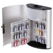 Durable Key Box Plus, 54-Key, Brushed Aluminum, Silver, 11 3/4 x 4 5/8 x 15 1/2