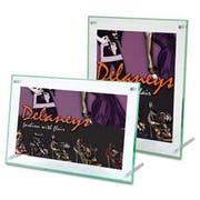 deflecto Superior Image Beveled Edge Sign Holder, Acrylic, 11 x 8 1/2, Clear