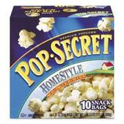 Pop Secret Microwave Popcorn, Homestyle, 1.2 oz Bags, 10/Box