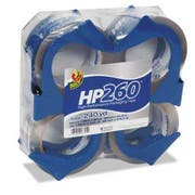 Duck HP260 Packaging Tape w/Dispenser, 1.88 inch x 60yds, 3 inch Core, 4/Pack