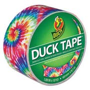 Duck Colored Duct Tape, 1.88 inch x 10 yds, 3 inch Core, Love Tie Dye