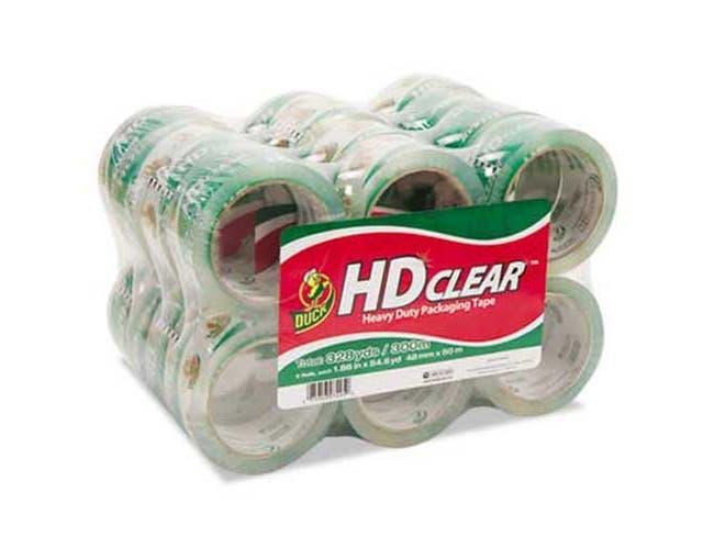 Duck Heavy-Duty Carton Packaging Tape, 1.88 inch x 55yds, Clear, 24/Pack