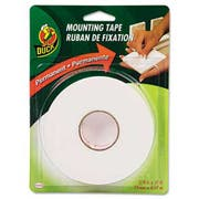 Duck Permanent Foam Mounting Tape, 3/4 inch x 15ft, White