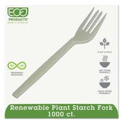 Eco-Products Plant Starch Fork, Cream, 1000/Carton