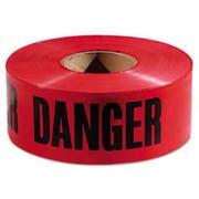 Empire Danger Barricade Tape, 3 inch x 1000ft, Red/Black