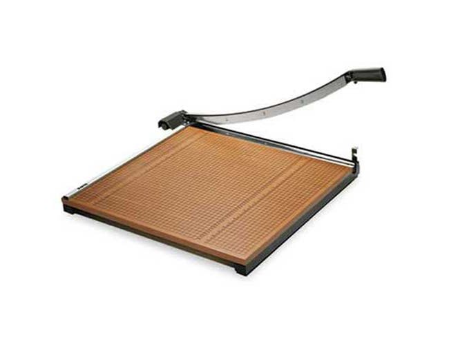 X-ACTO Square Commercial Grade Wood Base Guillotine Trimmer, 20 Sheets, 24 inch x 24 inch