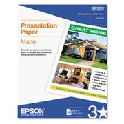 Epson Matte Presentation Paper, 27 lbs., Matte, 8-1/2 x 11, 100 Sheets/Pack
