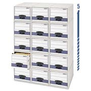Bankers Box STOR/DRAWER Steel Plus Storage Box, Wire, White/Blue, 12/CT