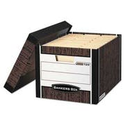 Bankers Box R-KIVE Max Storage Box, Letter/Legal, Locking Lid, Woodgrain, 12/Carton
